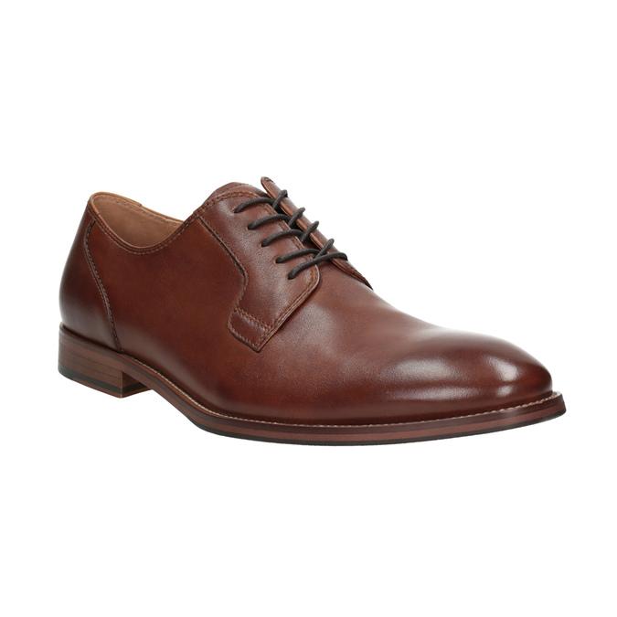 Brązowe skórzane półbuty męskie bata, brązowy, 826-3997 - 13
