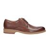 Brązowe nieformalne półbuty ze skóry bata, brązowy, 826-3853 - 26