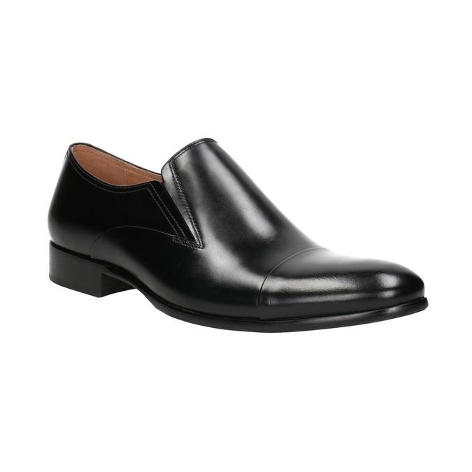 Skórzane mokasyny męskie bata, czarny, 814-6626 - 13