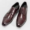 Bordowe półbuty ze skóry bata, czerwony, 826-5851 - 16