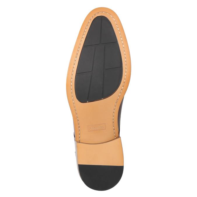 Skórzane bordowe półbuty męskie bata, czerwony, 826-5812 - 17
