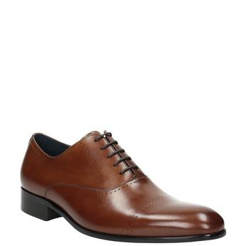 Brązowe skórzane półbuty typu oksfordy bata, brązowy, 826-3852 - 13