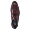 Skórzane bordowe półbuty męskie bata, czerwony, 826-5812 - 15