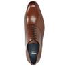 Brązowe skórzane półbuty typu oksfordy bata, brązowy, 826-3852 - 15