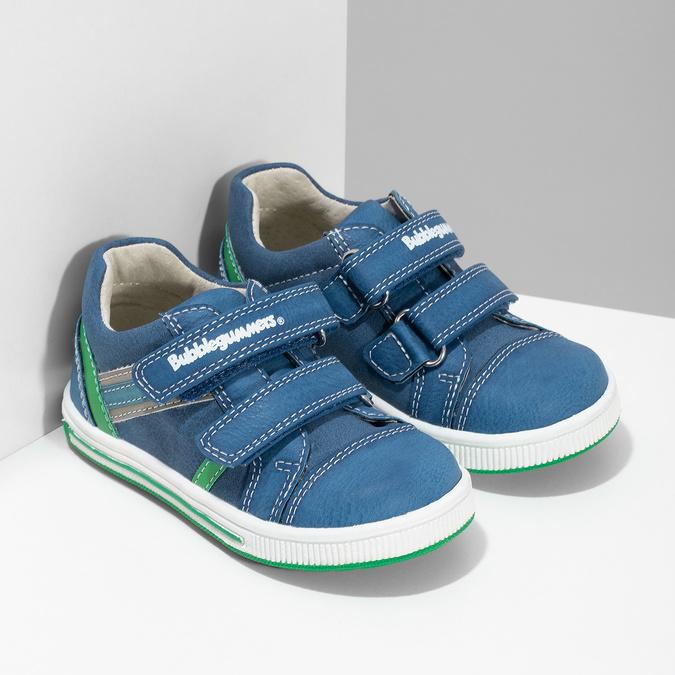 Niebieskie nieformalne trampki dziecięce bubblegummer, niebieski, 111-9625 - 26