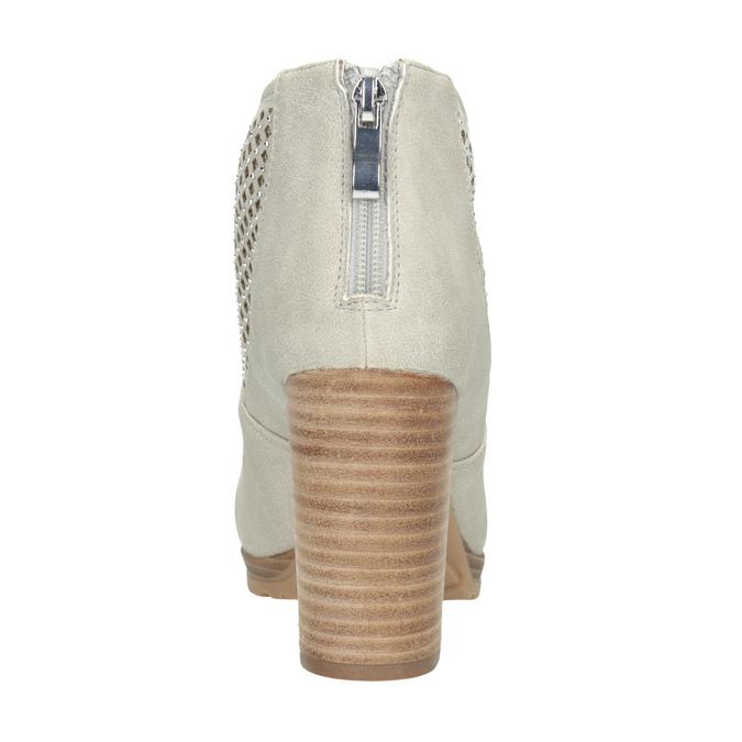 Botki zperforacją bata, szary, 791-2615 - 16