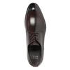 Ciemnobrązowe półbuty ze skóry bata, brązowy, 824-4983 - 15