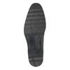 Skórzane półbuty męskie zprzeszyciami bata, czarny, 824-6982 - 17