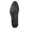 Ciemnobrązowe półbuty ze skóry bata, brązowy, 824-4983 - 17