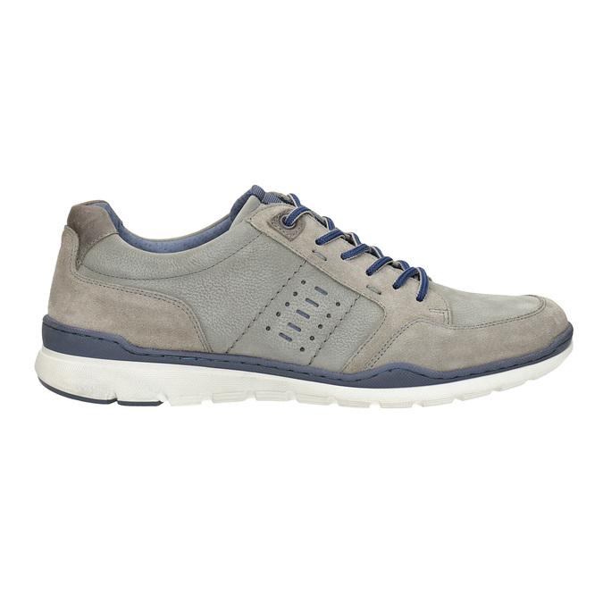 Skórzane trampki męskie bata, szary, 846-2639 - 16