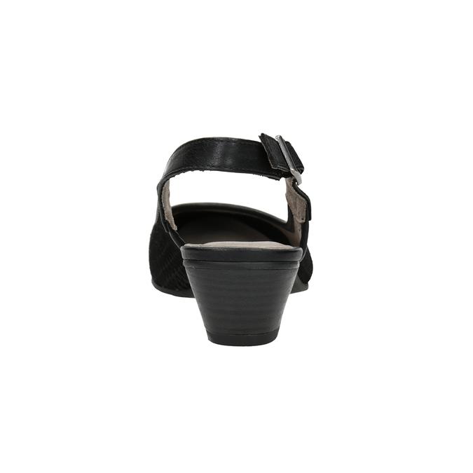 Czółenka oszerokości H, bez pięty bata, czarny, 623-6645 - 16