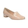 Beżowe loafersy na niskich obcasach bata, beżowy, 511-8608 - 13