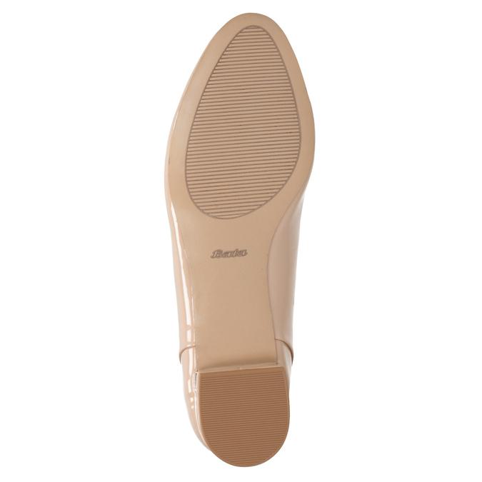Beżowe loafersy na niskich obcasach bata, beżowy, 511-8608 - 17