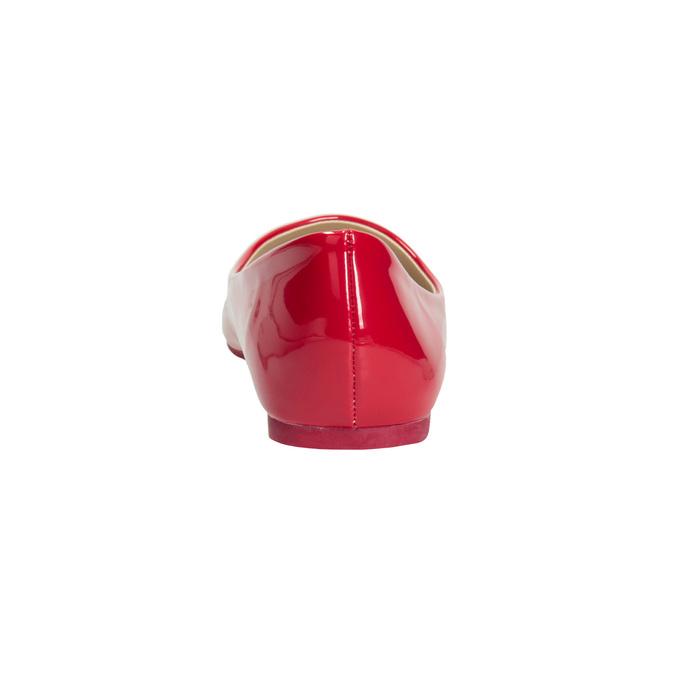 Czerwone lakierowane baleriny bata, czerwony, 521-0602 - 16