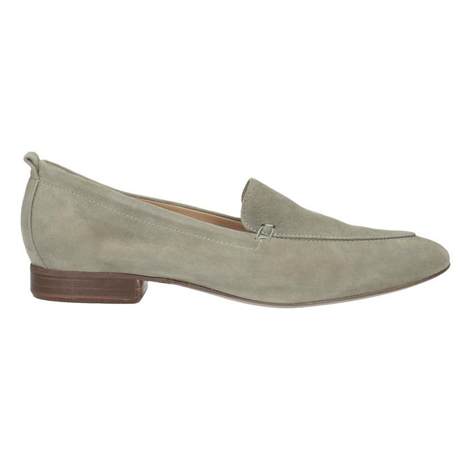 Zamszowe mokasyny damskie bata, beżowy, 516-8618 - 16