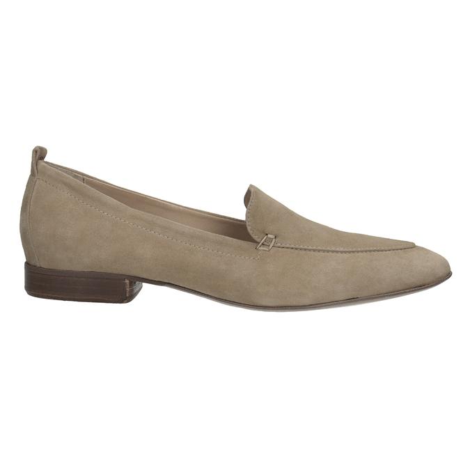 Nieformalne zamszowe mokasyny bata, brązowy, 516-4618 - 16