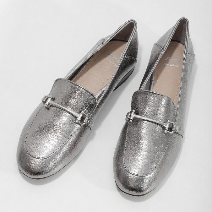 Srebrne mokasyny zwędzidłami bata, srebrny, 511-1609 - 16