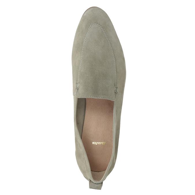 Zamszowe mokasyny damskie bata, beżowy, 516-8618 - 17