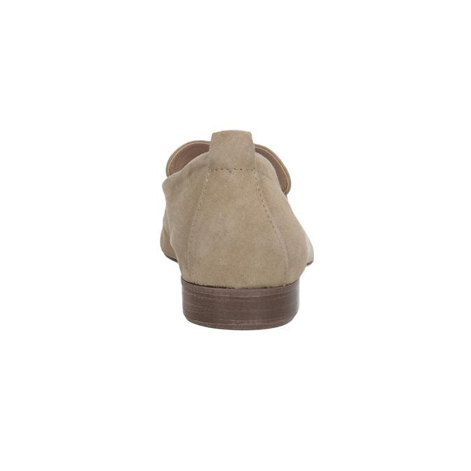 Nieformalne zamszowe mokasyny bata, brązowy, 516-4618 - 15