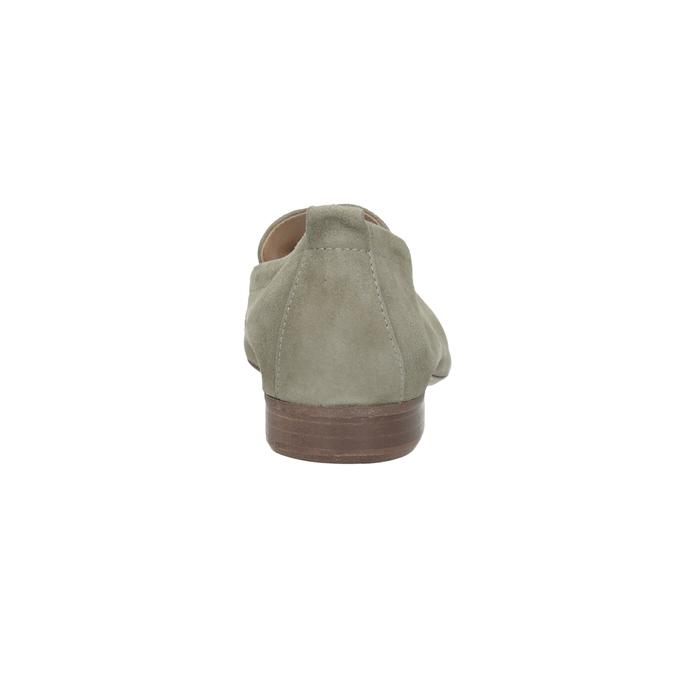 Zamszowe mokasyny damskie bata, beżowy, 516-8618 - 15