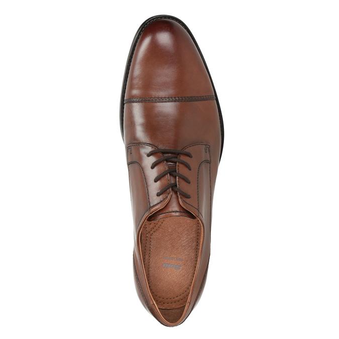 Skórzane półbuty męskie zprzeszyciami bata, brązowy, 826-4995 - 15