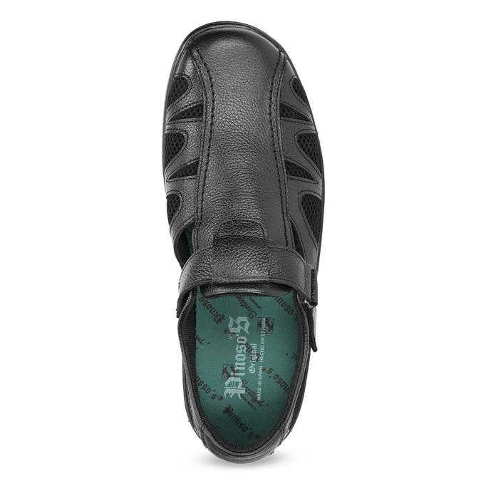 Skórzane sandały męskie weleganckim stylu pinosos, czarny, 864-6625 - 17