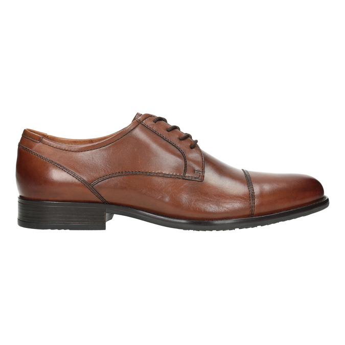 Skórzane półbuty męskie zprzeszyciami bata, brązowy, 826-4995 - 26