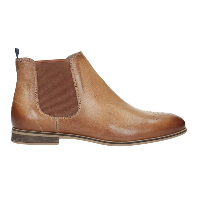 Skórzane botki damskie typu chelsea bata, brązowy, 596-3684 - 26