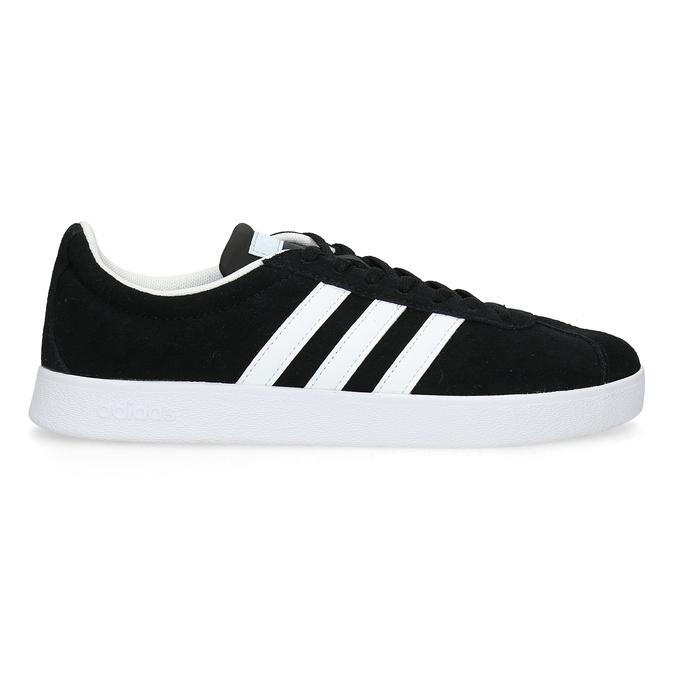 Czarne zamszowe trampki damskie adidas, czarny, 503-6379 - 19