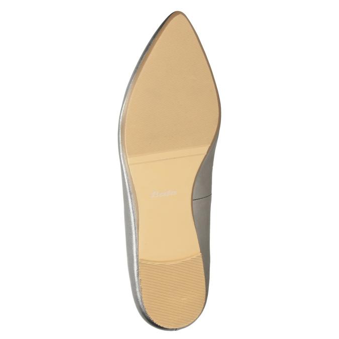 Skórzane obuwie damskie zperforacją bata, 526-1659 - 19