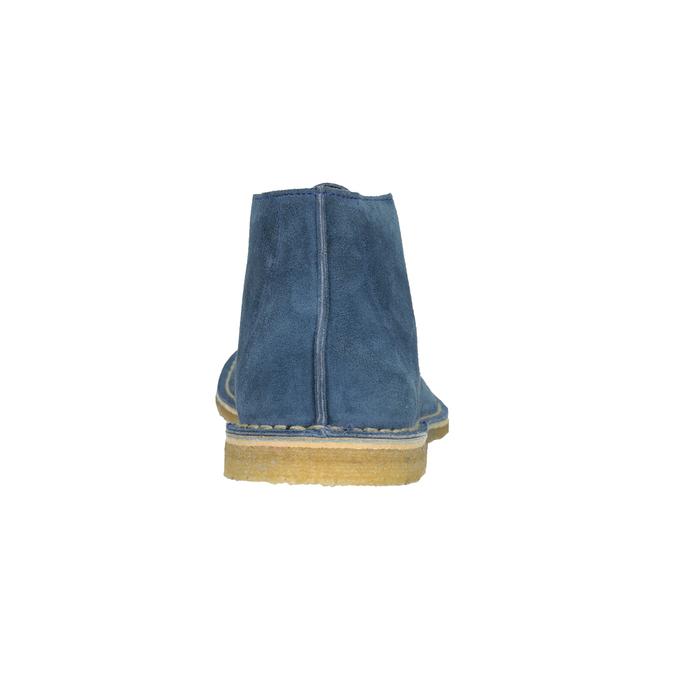 Granatowe skórzane buty pustynne bata, niebieski, 823-9622 - 15