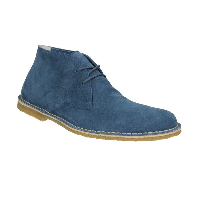 Granatowe skórzane buty pustynne bata, niebieski, 823-9622 - 13