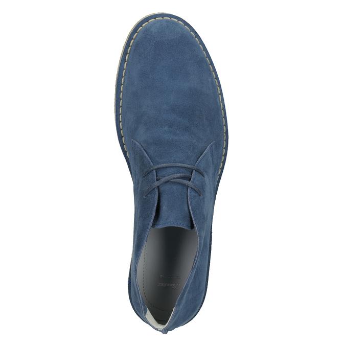 Granatowe skórzane buty pustynne bata, niebieski, 823-9622 - 17