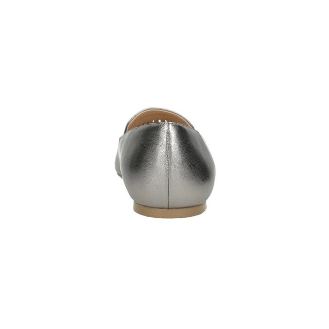 Skórzane obuwie damskie zperforacją bata, 526-1659 - 15