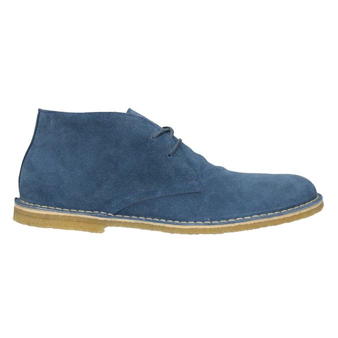 Granatowe skórzane buty pustynne bata, niebieski, 823-9622 - 16