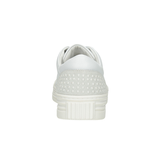 Nieformalne skórzane trampki damskie bata, biały, 544-1606 - 16