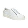Nieformalne skórzane trampki damskie bata, biały, 544-1606 - 13