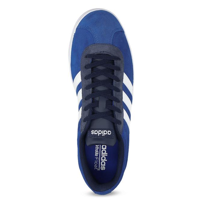 Niebieskie zamszowe trampki adidas, niebieski, 803-9979 - 17