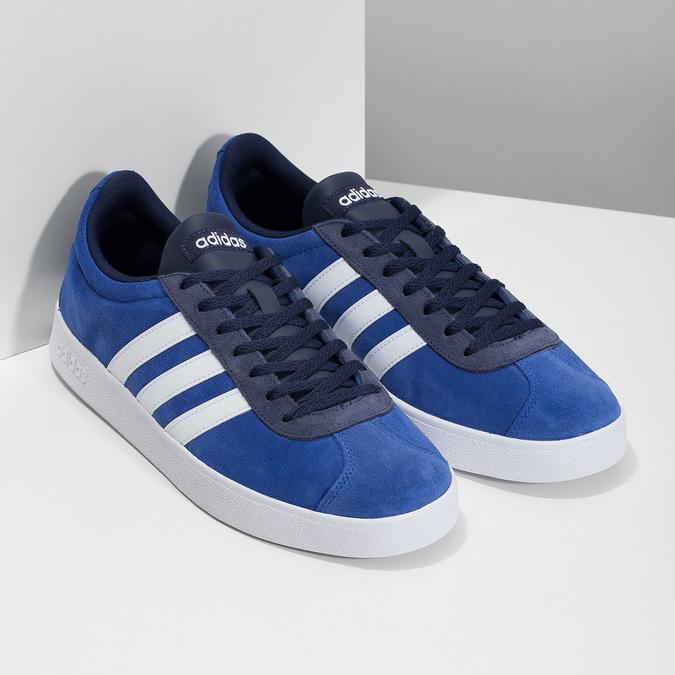 Niebieskie zamszowe trampki adidas, niebieski, 803-9979 - 26