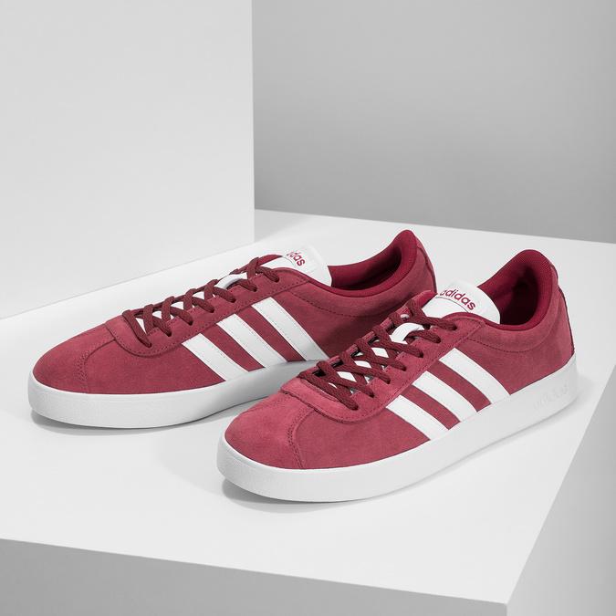 Czerwone zamszowe trampki męskie adidas, czerwony, 803-5379 - 16