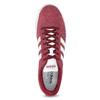 Czerwone zamszowe trampki męskie adidas, czerwony, 803-5379 - 17