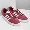 Czerwone zamszowe trampki męskie adidas, czerwony, 803-5379 - 26