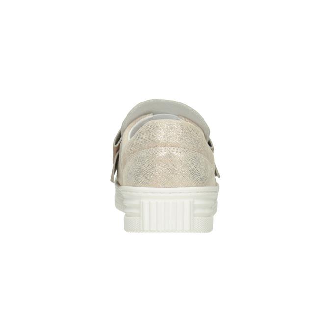 Skórzane slip-on zkokardami bata, różowy, 536-5600 - 16
