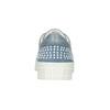 Skórzane trampki damskie zperełkami bata, niebieski, 546-9606 - 16