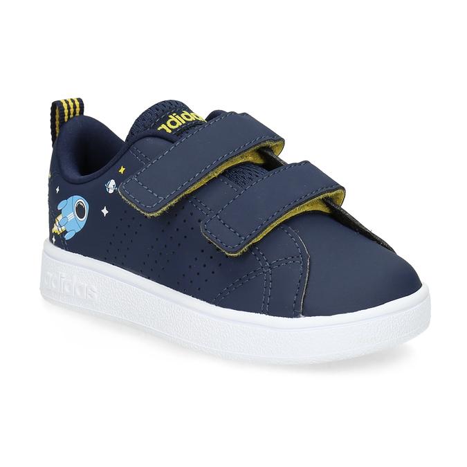 Granatowe trampki dziecięce na rzepy adidas, niebieski, 101-9129 - 13