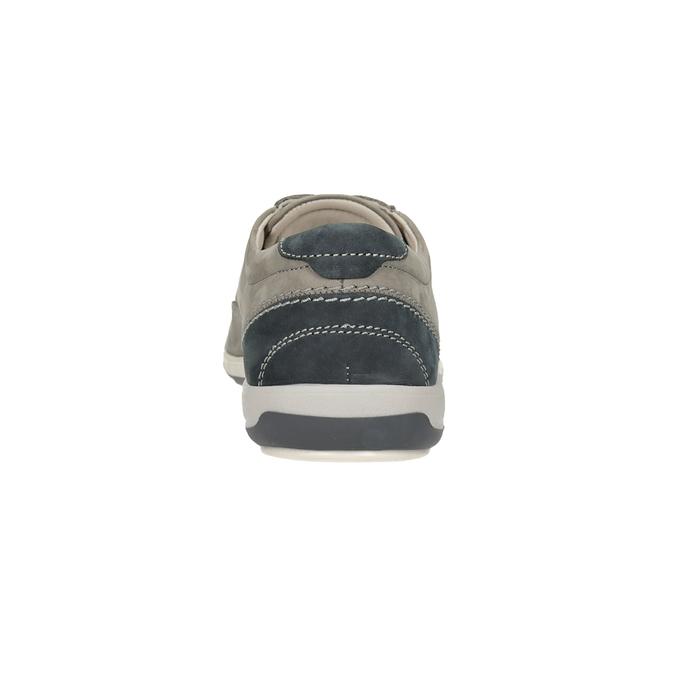 Skórzane półbuty ze szwami na noskach comfit, szary, 846-2803 - 15