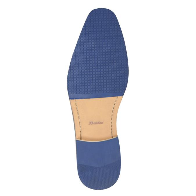 Brązowe skórzane półbuty zfakturą bata, brązowy, 826-4624 - 19