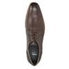 Brązowe skórzane półbuty zfakturą bata, brązowy, 826-4624 - 17