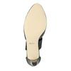 Skórzane czółenka damskie insolia, czarny, 624-6643 - 17