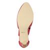 Różowe czółenka ze skóry insolia, czerwony, 624-5643 - 17